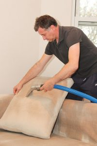We offer professional upholstery cleaning services.